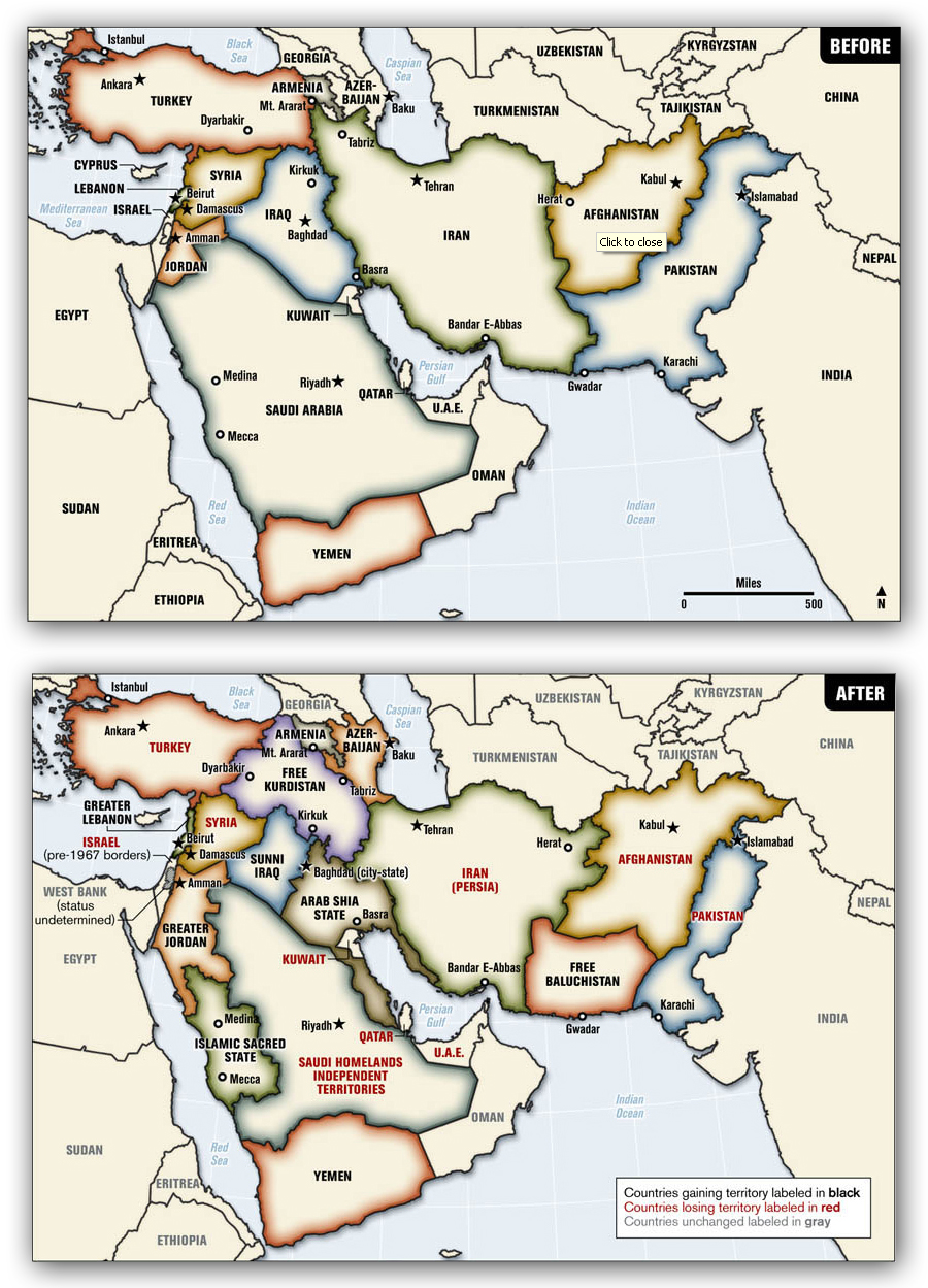 Redrawing the Middle East A Look at more organic borders