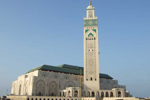 The Hasan II Mosque in Casablanca