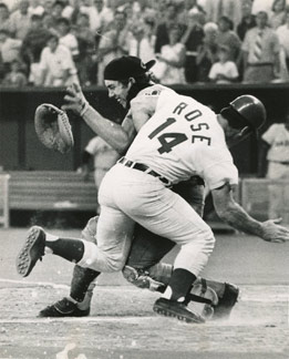 Pete Rose crashing into Ray Fosse at the 1970 All-Star Game