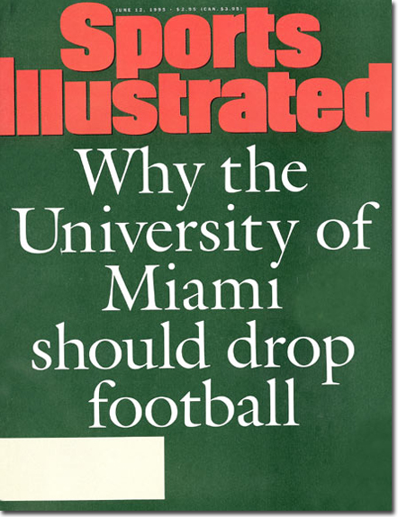 Can you imagine SI running this cover article nowadays?