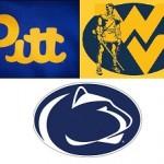 Pitt-PSU-WVU logos